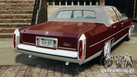 Cadillac Fleetwood Brougham Delegance 1986 для GTA 4 вид справа