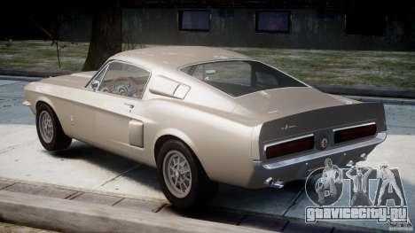 Shelby GT500 1967 для GTA 4 вид сзади слева