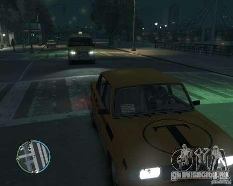 ВАЗ 2105 Такси для GTA 4 вид сзади слева