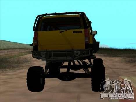 Hummer H3 Trial для GTA San Andreas вид сзади слева