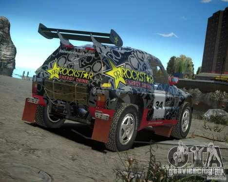 Mitsubishi Pajero Proto Dakar EK86 винил 1 для GTA 4 вид справа