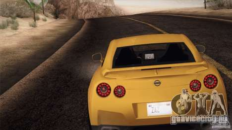 Nissan GTR Black Edition для GTA San Andreas вид слева
