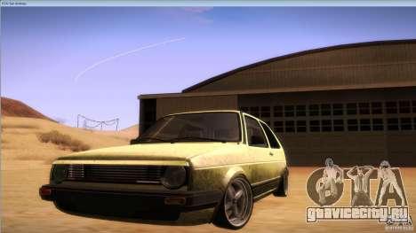 Volkswagen Golf MK II для GTA San Andreas вид справа