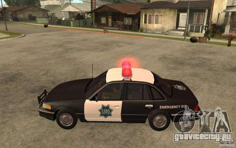 Ford Crown Victoria SFPD 1992 для GTA San Andreas вид слева