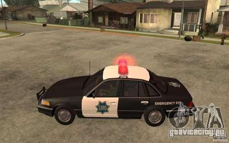 Ford Crown Victoria SFPD 1992 для GTA San Andreas