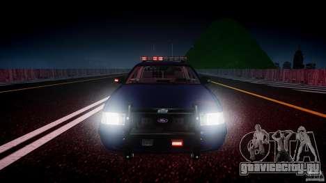 Ford Crown Victoria Homeland Security [ELS] для GTA 4 салон