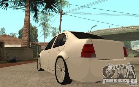 Volkswagen Bora PepeUz Edition для GTA San Andreas вид сзади слева