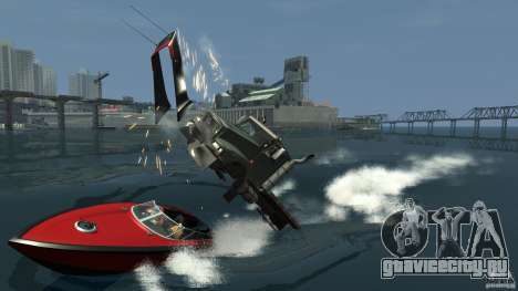 Biff boat для GTA 4 вид сзади