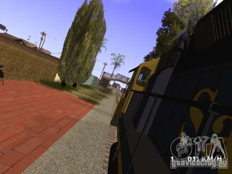SD 40 UP BN Santa Fe для GTA San Andreas вид справа