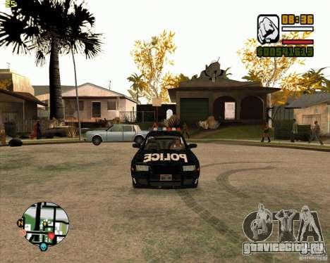 Полицейская тачка из NFS: MW для GTA San Andreas вид слева