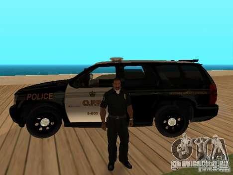 Chevrolet Tahoe Ontario Highway Police для GTA San Andreas вид изнутри
