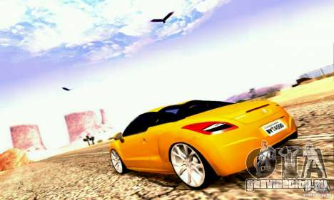 Peugeot Rcz 2011 для GTA San Andreas вид снизу
