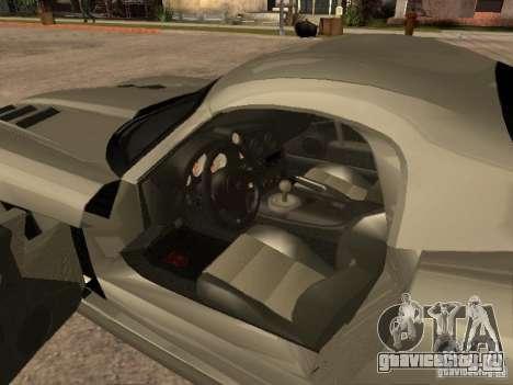 Dodge Viper Coupe 2008 для GTA San Andreas вид сзади слева