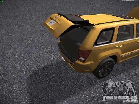 Jeep Grand Cherokee SRT8 для GTA San Andreas вид сбоку