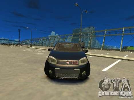 Fiat Novo Uno Sporting для GTA 4 вид сзади