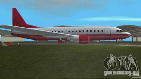 Boeing 737 для GTA Vice City вид слева