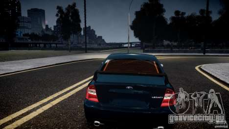 Subaru Legacy B4 GT для GTA 4 вид сверху