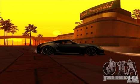 Nissan 370z Drift Edition для GTA San Andreas вид сзади