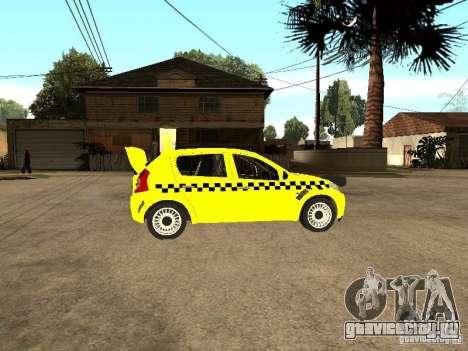 Dacia Sandero Speed Taxi для GTA San Andreas вид справа