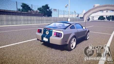 Shelby GT500kr для GTA 4 вид сверху