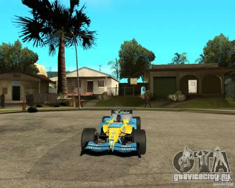 Renault F1 для GTA San Andreas вид сзади