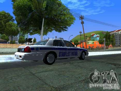 Ford Crown Victoria Police Interceptor 2008 для GTA San Andreas вид сзади слева