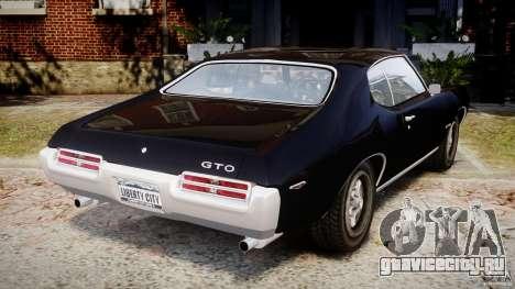 Pontiac GTO Judge для GTA 4 вид сзади слева