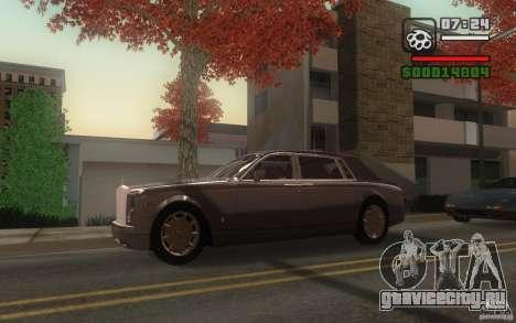 Rolls-Royce Phantom EWB для GTA San Andreas вид сзади