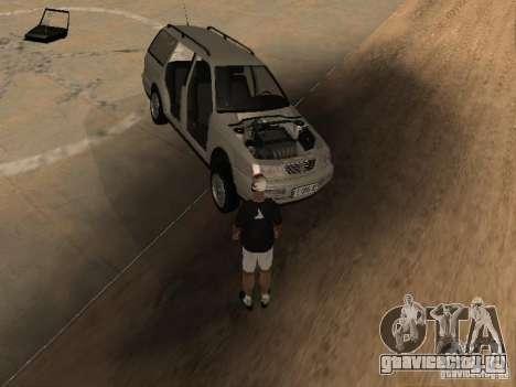 Volkswagen Passat B4 для GTA San Andreas вид снизу
