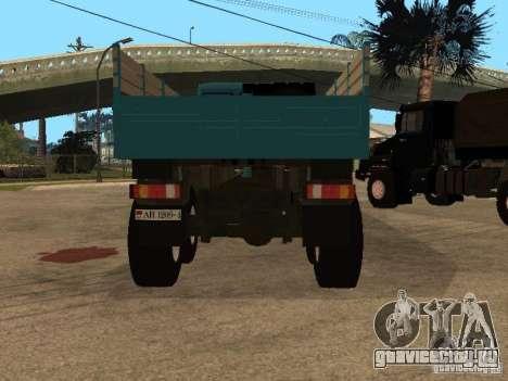 КамАЗ-4355 для GTA San Andreas вид сзади
