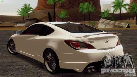 Hyundai Genesis Tunable для GTA San Andreas вид справа