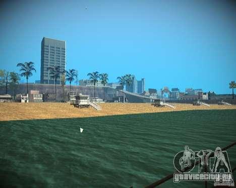 New textures beach of Santa Maria для GTA San Andreas