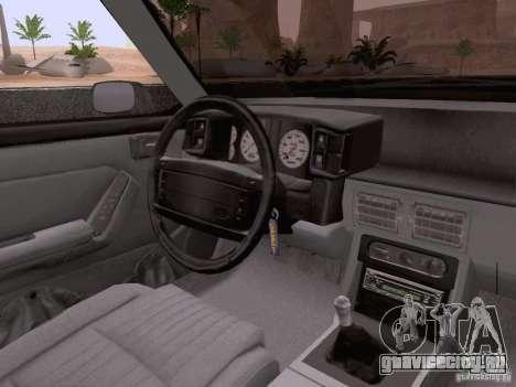Ford Mustang GT 5.0 Convertible 1987 для GTA San Andreas вид снизу