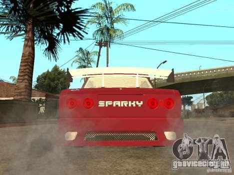 ВАЗ 2107 Sparky для GTA San Andreas вид сзади слева
