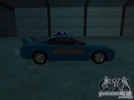 Toyota Supra California State Patrol для GTA San Andreas вид сбоку