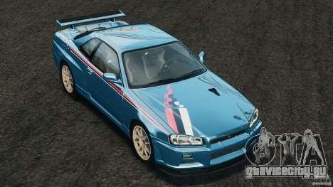 Nissan Skyline GT-R R34 2002 v1.0 для GTA 4