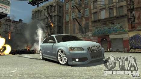 Audi S3 2009 для GTA 4 вид изнутри