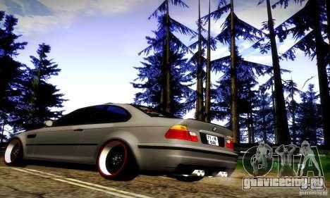 BMW M3 JDM Tuning для GTA San Andreas вид сзади