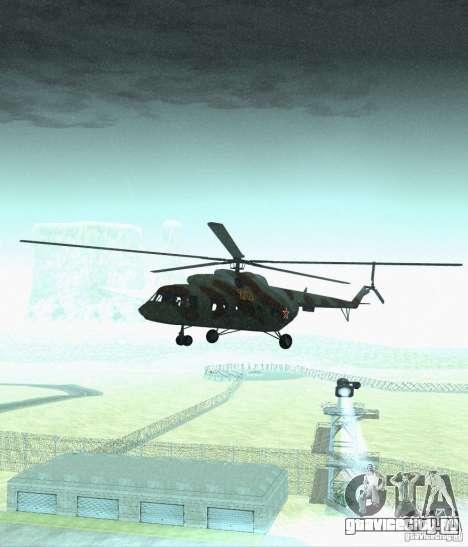МИ-17 Военный для GTA San Andreas вид сзади