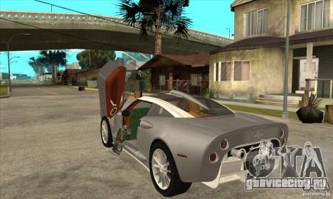 Spyker C8 Aileron для GTA San Andreas вид сзади слева