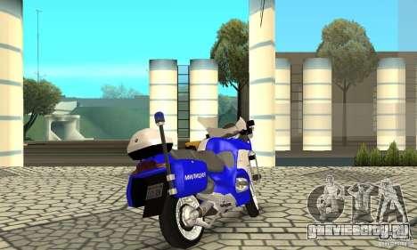 Мотоцикл российской милиции для GTA San Andreas вид слева