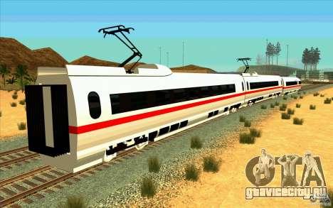 ICE3 Train для GTA San Andreas вид слева
