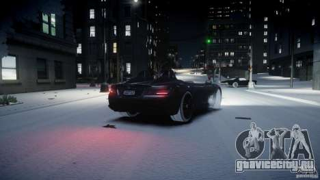 Mercedes Benz McLaren SLR Stirling Moss для GTA 4 вид сзади слева