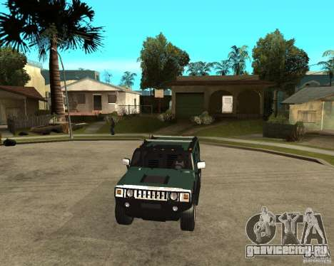 AMG H2 HUMMER SUV для GTA San Andreas вид сзади