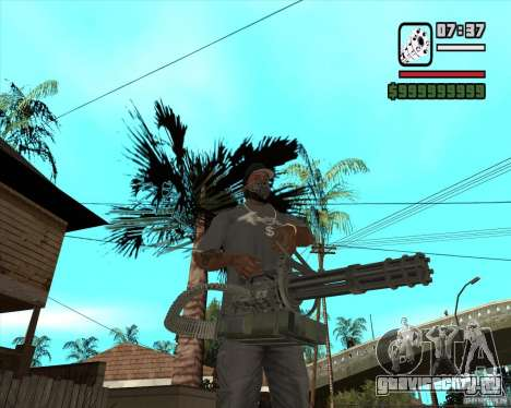 Hand Held M134 Minigun для GTA San Andreas второй скриншот
