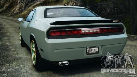 Dodge Challenger SRT8 2009 [EPM] для GTA 4 вид сзади слева
