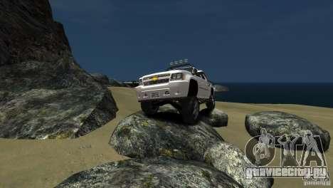 Chevrolet Avalanche 4x4 Truck для GTA 4 вид изнутри