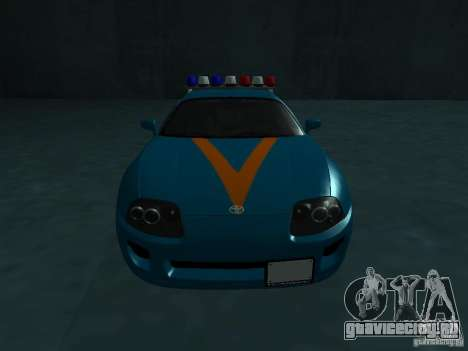 Toyota Supra California State Patrol для GTA San Andreas вид сзади