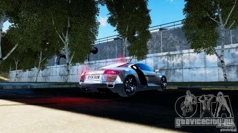 Audi R8 Spider 2011 для GTA 4 вид сбоку