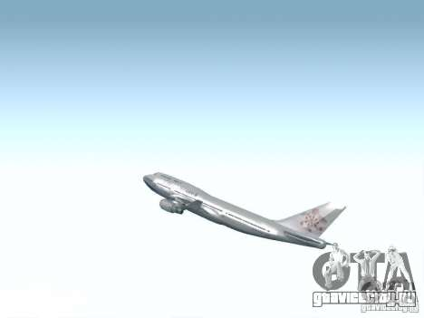 Boeing 747-400 China Airlines для GTA San Andreas вид сбоку